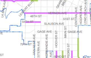 Speed limit changes in South LA map