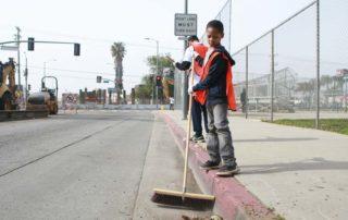 Boy at Van Ness Recreation Center Clean Up