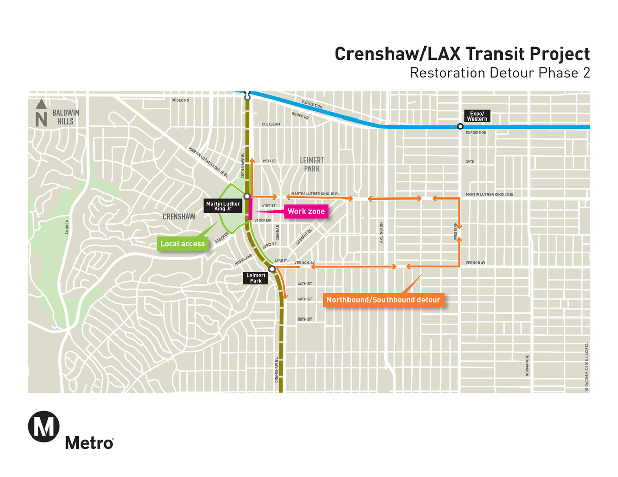 Crenshaw transit project Phase 2