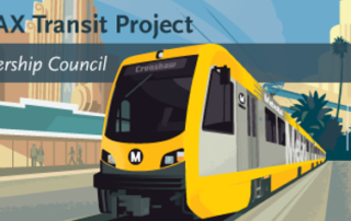 Drawing of Crenshaw metro train