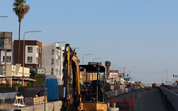 Crenshaw Blvd construction