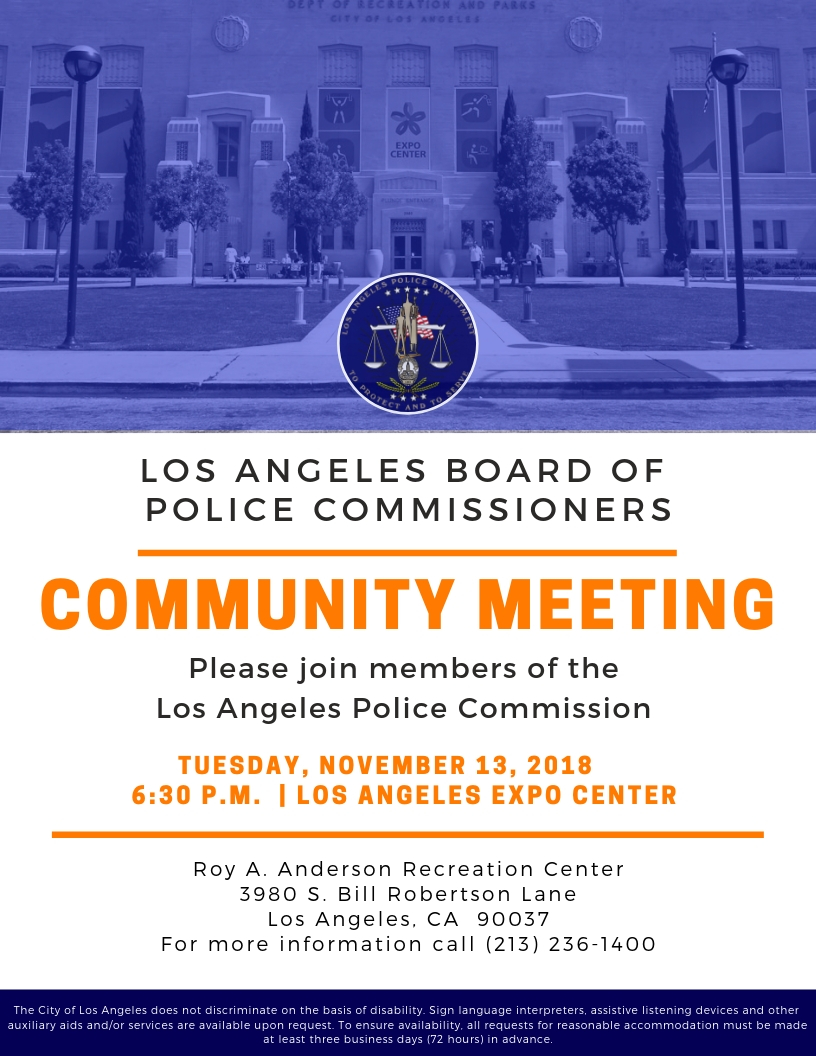 Police Commission Community Meeting