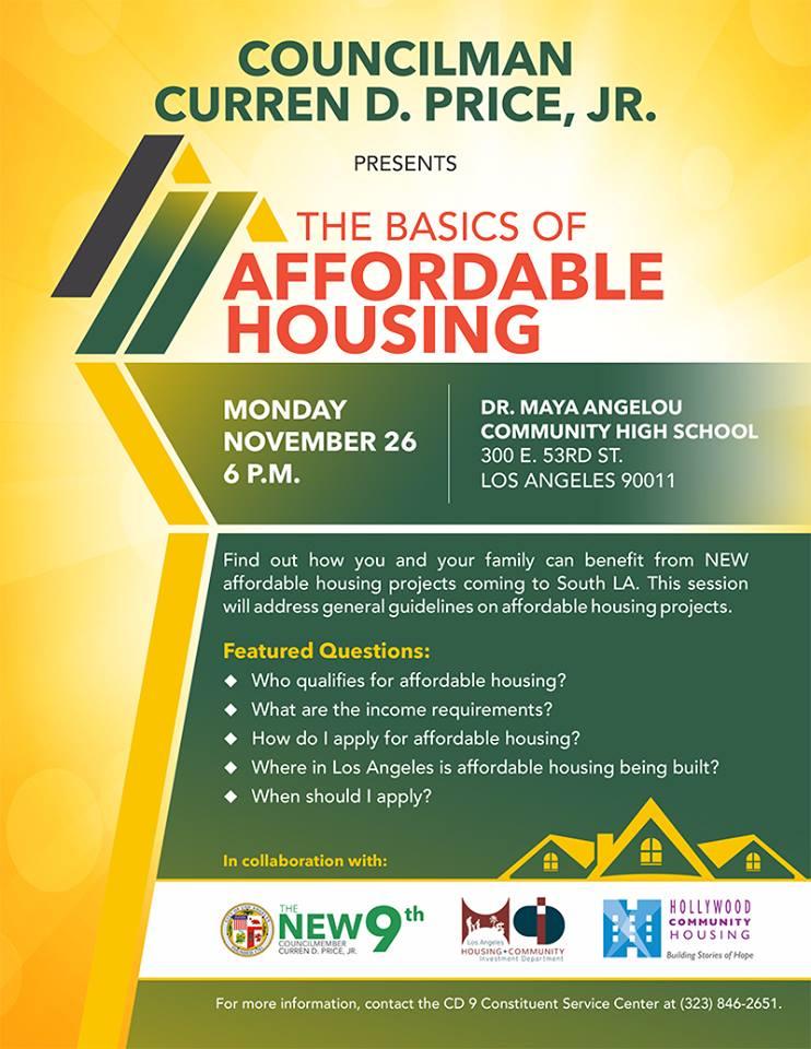 Basics of Affordable Housing Workshop