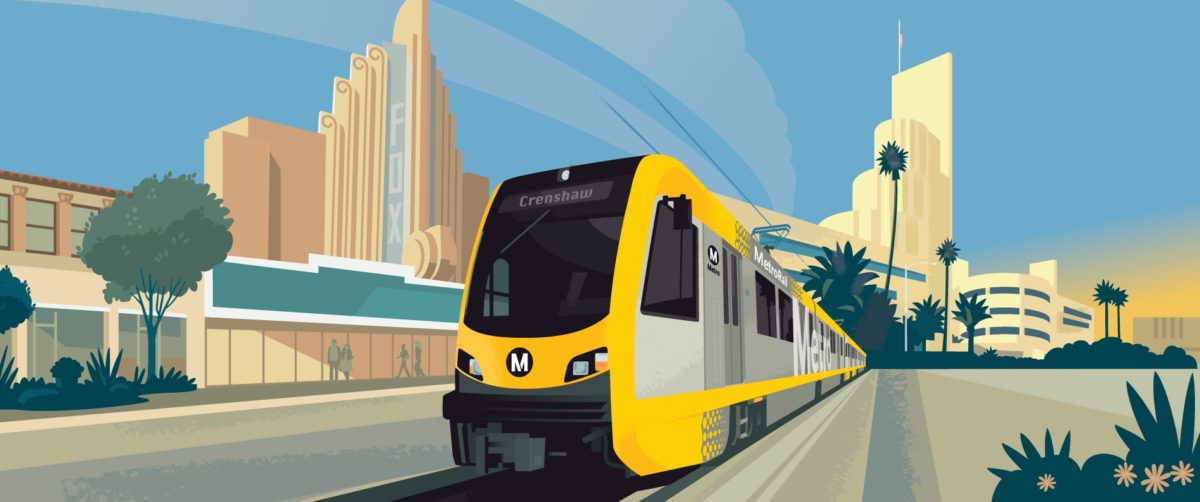 Drawing of metro line in Crenshaw
