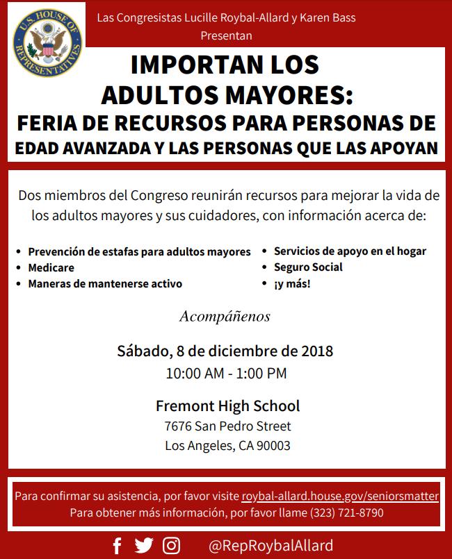 Senior Resource Fair in Spanish