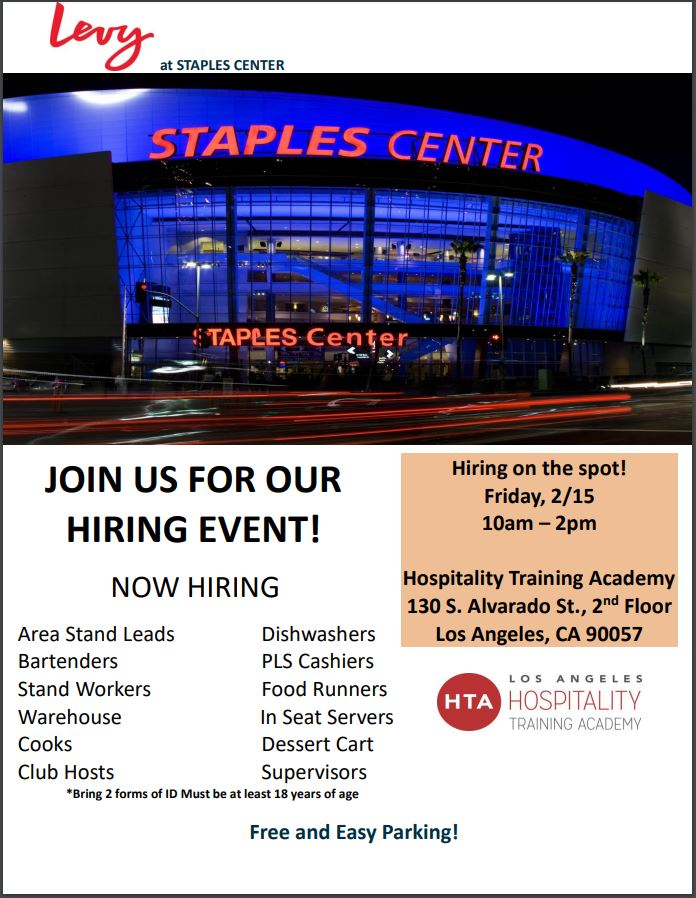 Staples Hiring Event