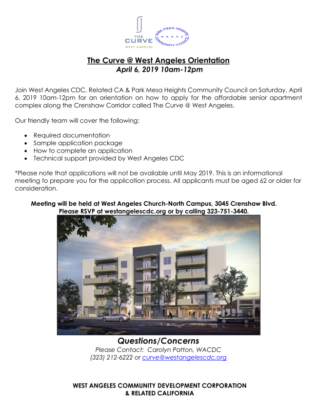 The Curve @ West Angeles Senior Apartments Applications Open