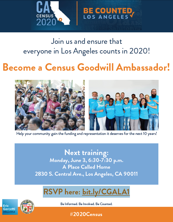 Census Goodwill Ambassador Training