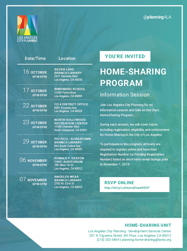 Home Sharing Information Session