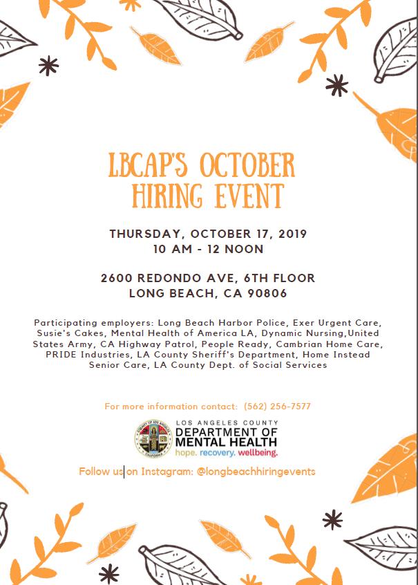 LBCAPS OCTOBER HIRING EVENT