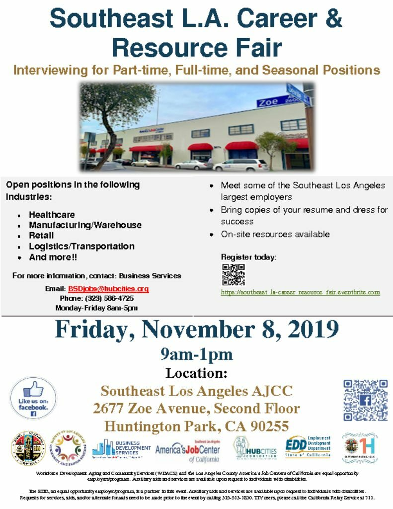thumbnail of SELA Job Fair 11-08-19 Public flyer