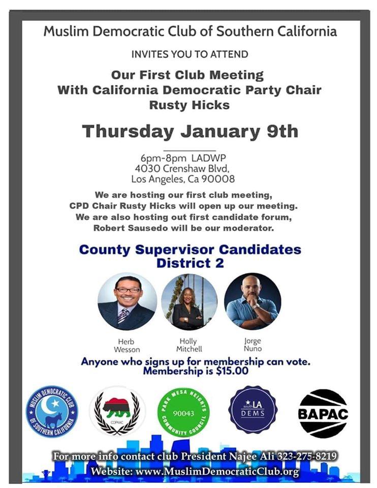 County supervisor 2 debate candidates