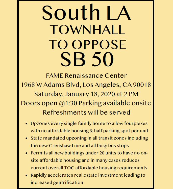 Oppose SB 50 Town Hall