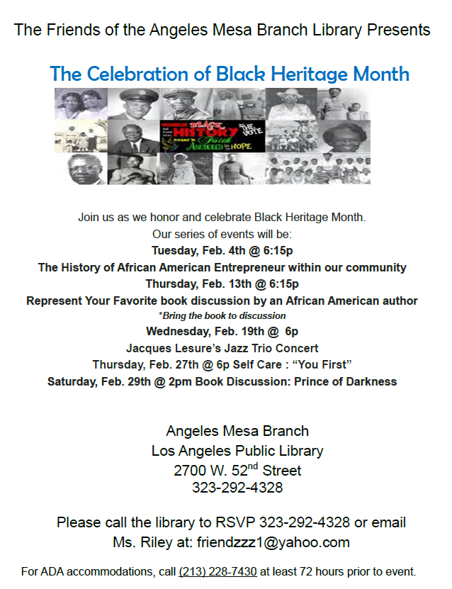 Black American Heritage Month Events
