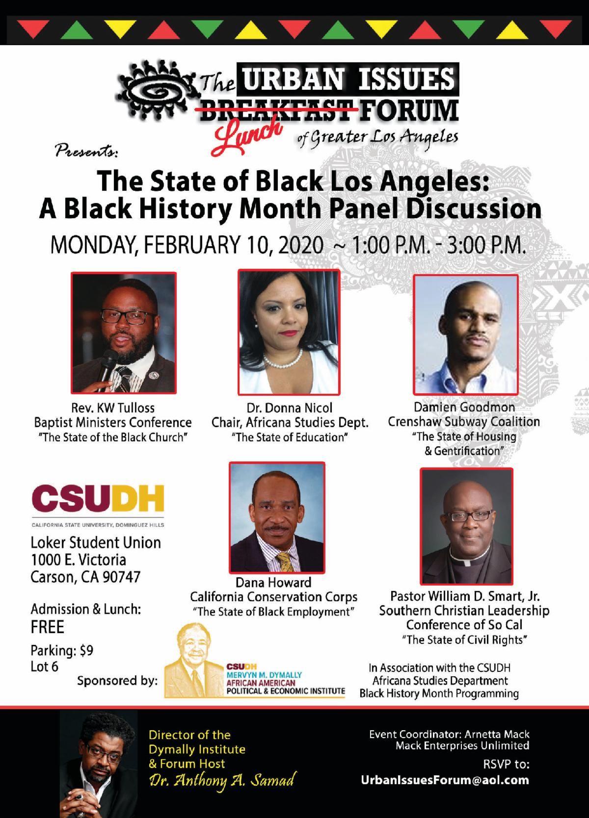 The State of Black Los Angeles Lunch Forum