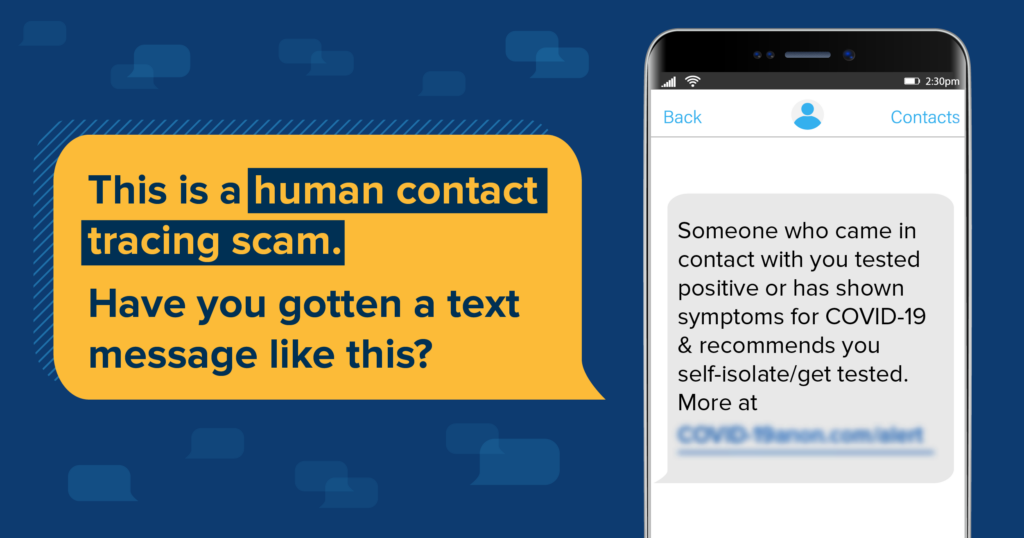 Contact Tracing Scams