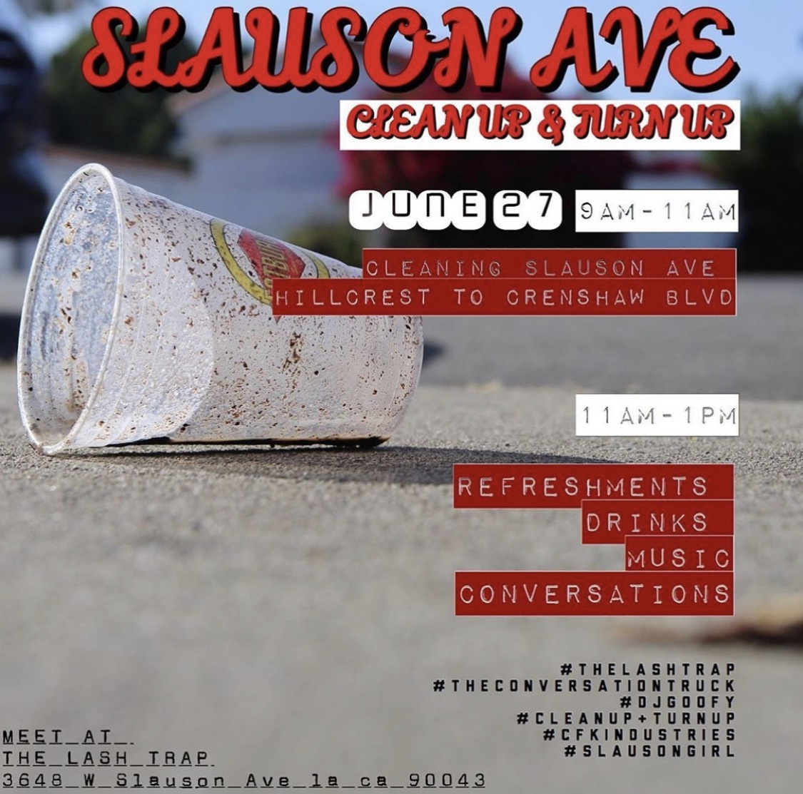 Slauson Ave Clean up