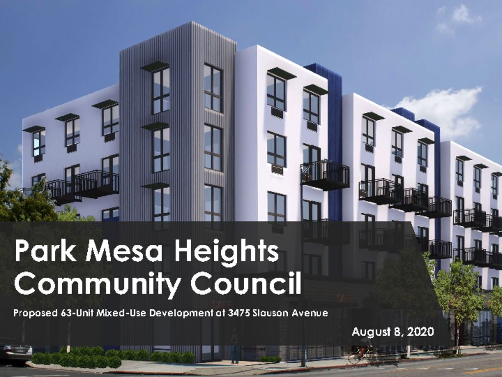 thumbnail of 3475 Slauson Neighborhood Council Presentation 8.8.2020