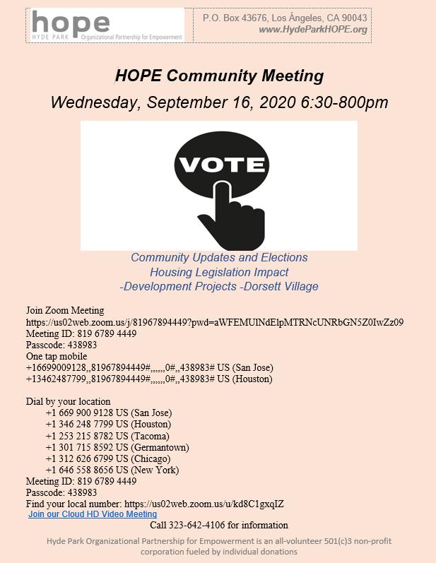 Hope Community Meeting