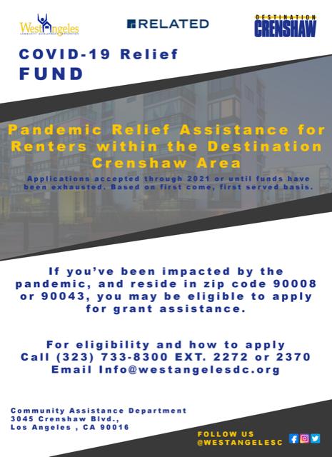 Renter relief assistance