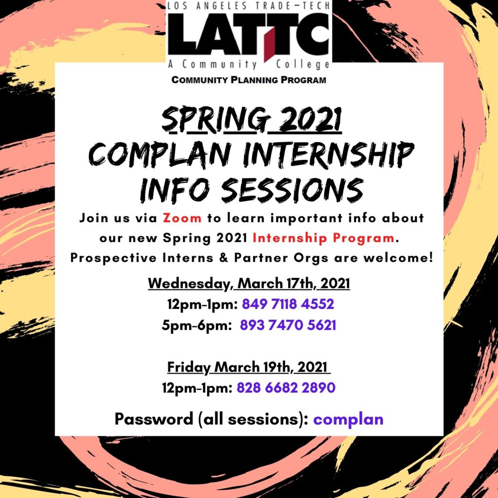 Commuity Planning Program California Youth Leadership Corp CDTech Presents_