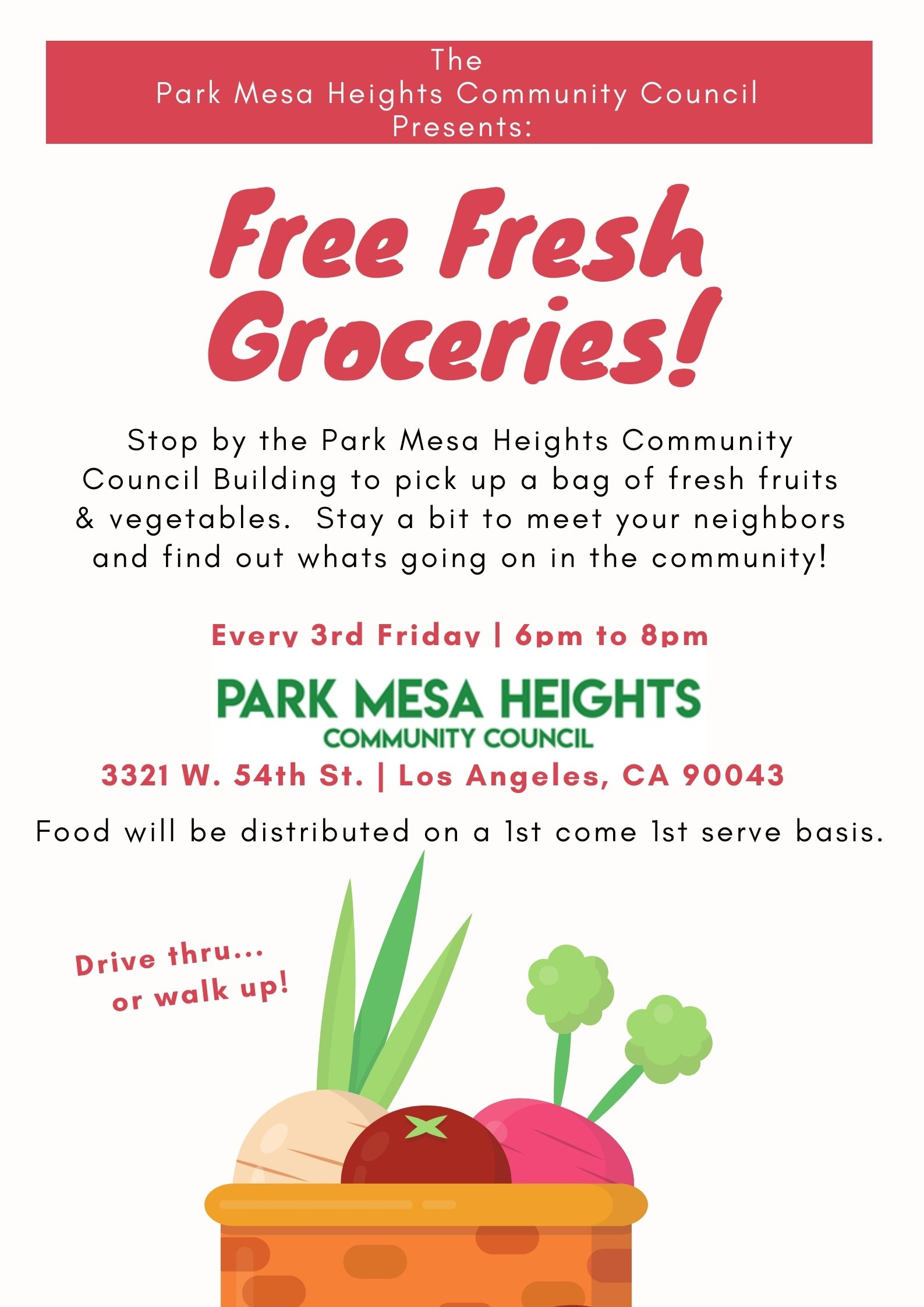Free fresh groceries